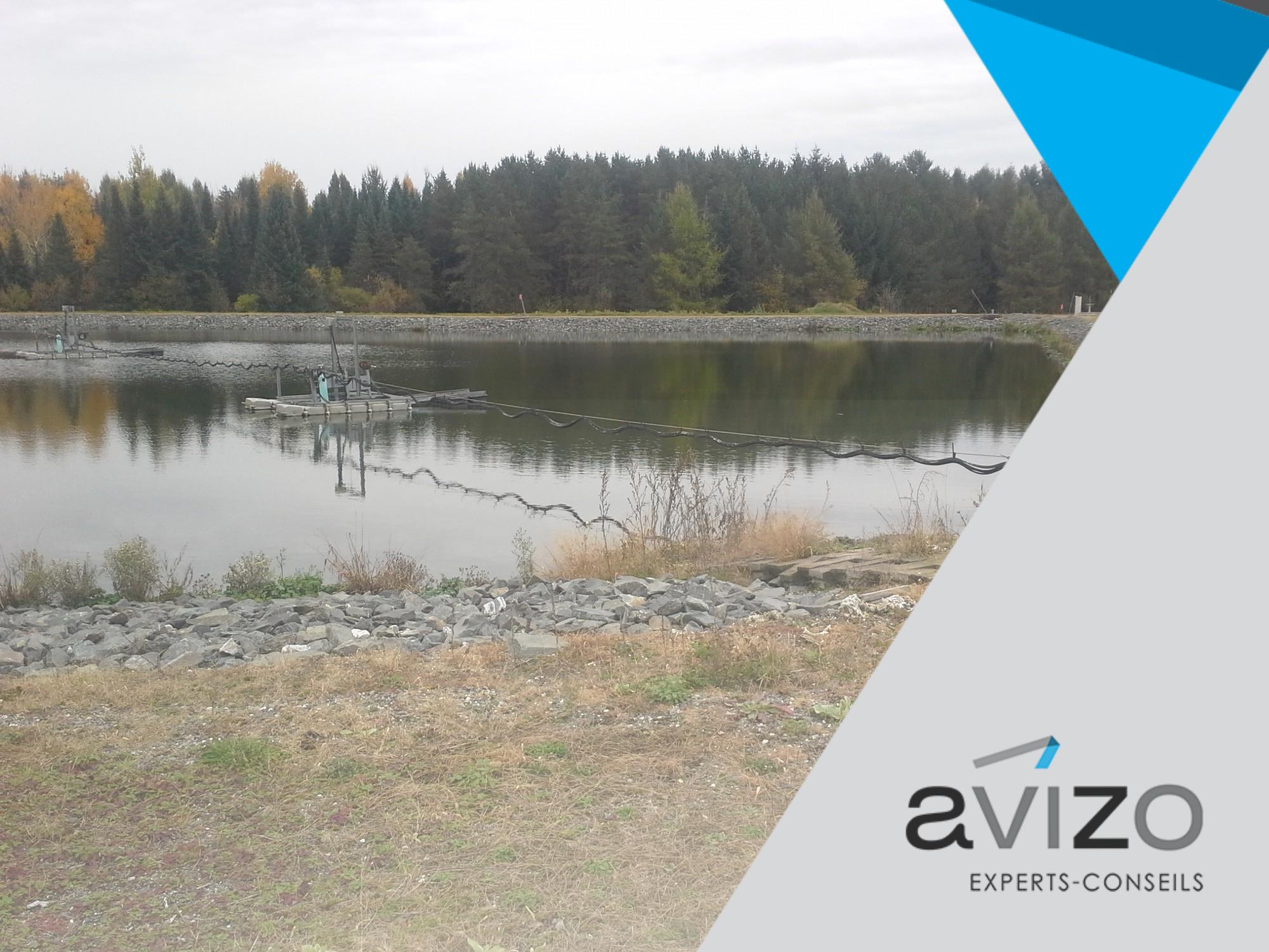 Les boues des étangs aérés peuvent diminuer leur efficacité