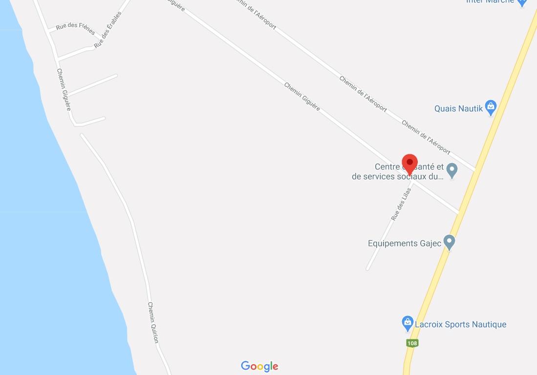 Carte routière du secteur Giguère-Quirion à Lambton au Québec - Avizo Experts-Conseils